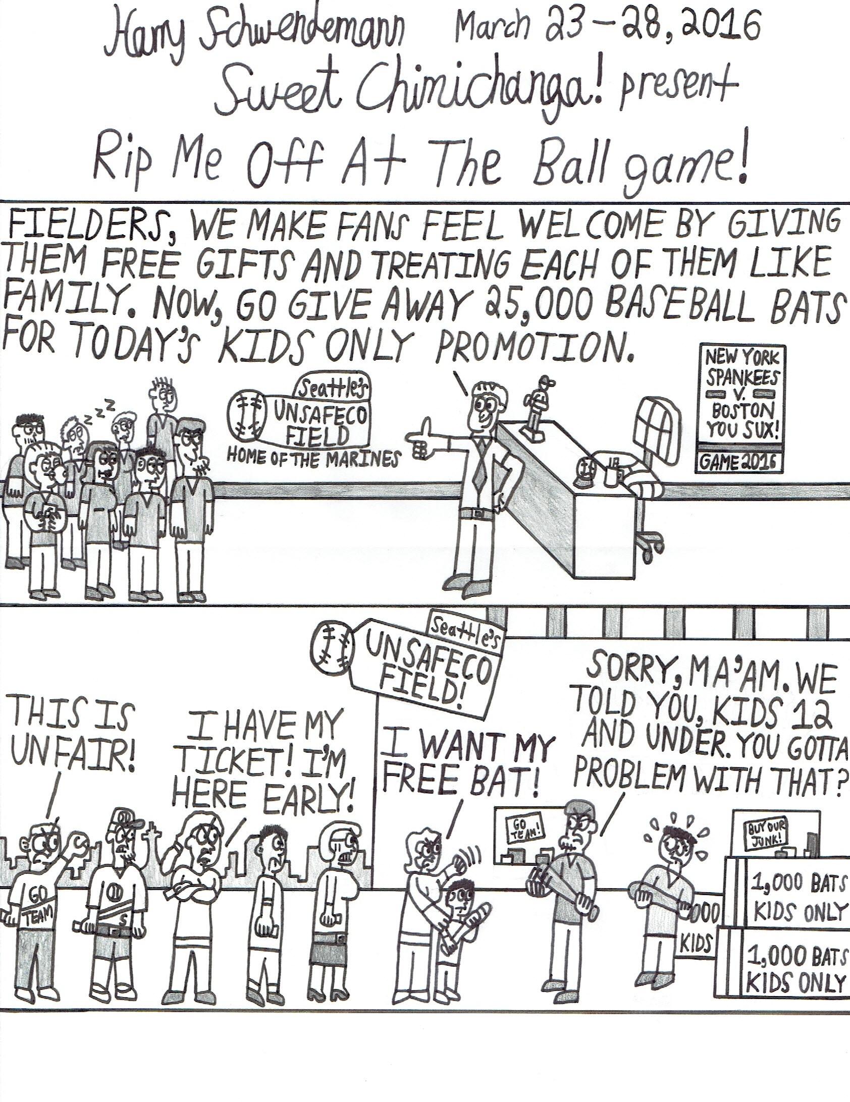 Rip Me Off At The Ballgame!