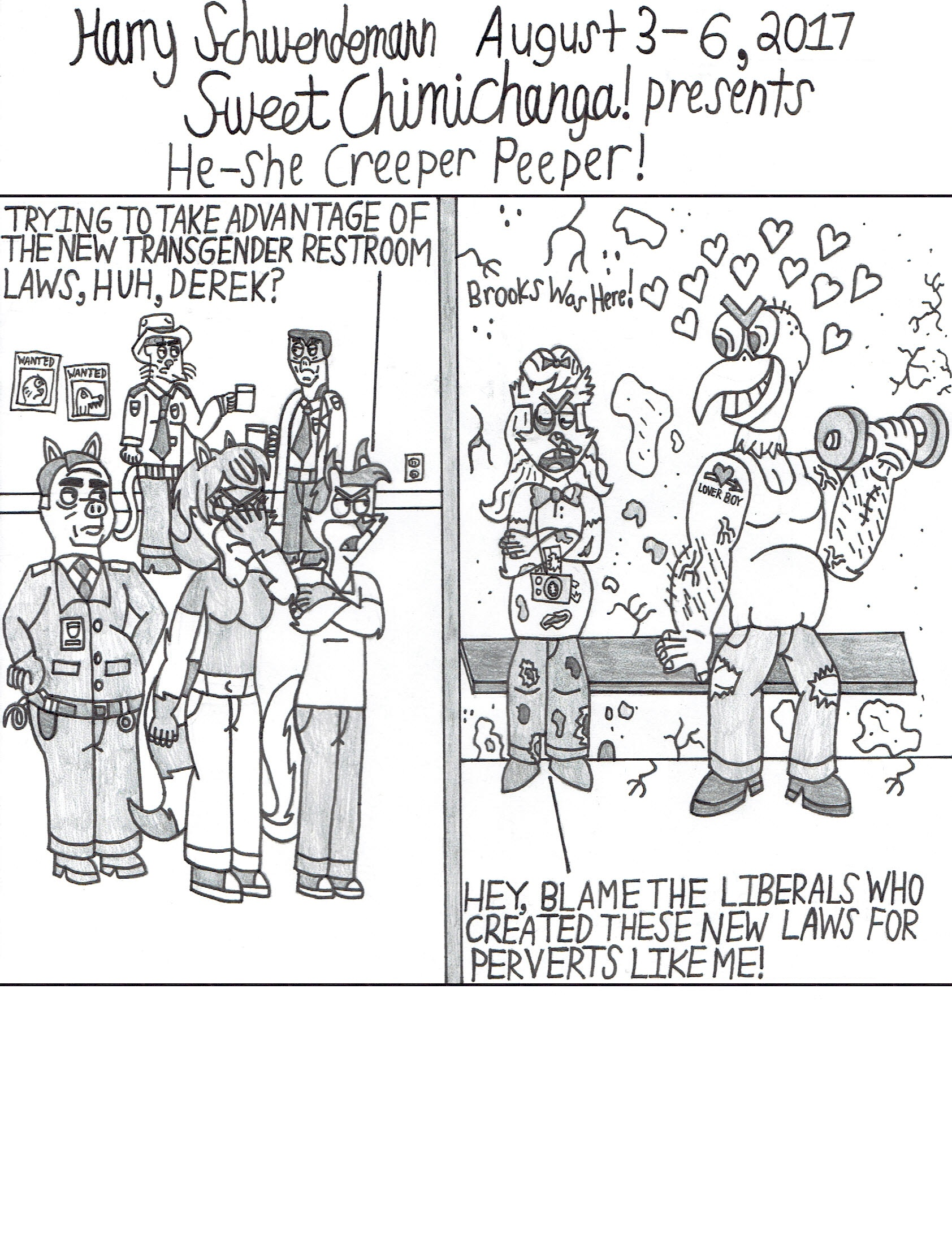 He-she Creeper Peeper!